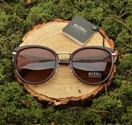 Damskie okulary przeciwsłoneczne polaryzacyjne brązowe est-01b