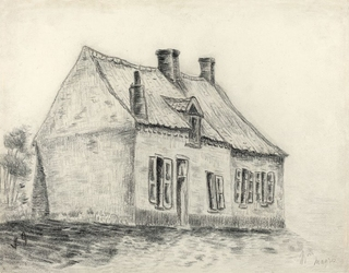 The magrot house, cuesmes, vincent van gogh - plakat wymiar do wyboru: 29,7x21 cm