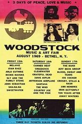 Woodstock Koncert Line Up - plakat