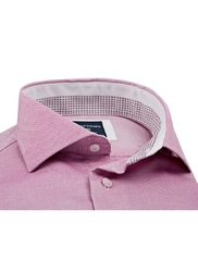 Elegancka koszula męska różowa slim fit 42