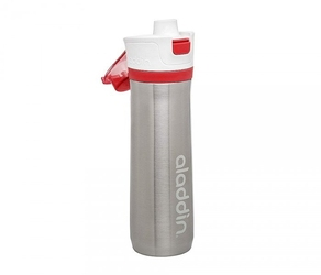 Bidon termiczny 600 ml aladdin active hydration stalowy-czerwony