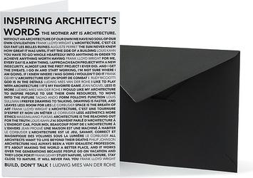 Kartka z kopertą Architects Quotes Inspiring Words