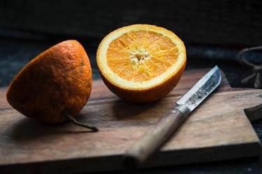 Fototapeta na ścianę przekrojona pomarańcza fp 4408