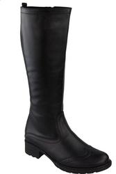 Obuwie kozaki damskie oficerki skóra naturalna czarne 946 elitabut - czarne