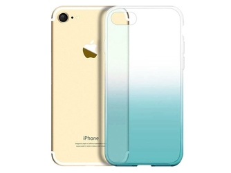 Etui alogy ombre case apple iphone 7  8 zielone + szkło - zielony