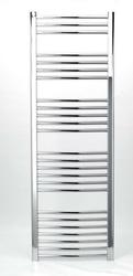 Grzejnik łazienkowy york - wykończenie zaokrąglone, 600x1700, chromowany