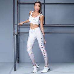Zestaw fitness labellamafia set printed sets sports bra + legging