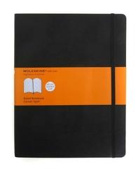 Notes Moleskine w miękkiej oprawie XL czarny w linie