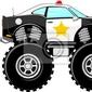 Naklejka 4x4 monstertruck cartoon samochód policyjny