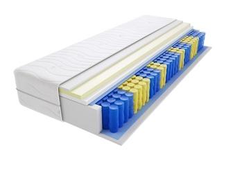 Materac kieszeniowy sofia max plus 120x220 cm średnio twardy visco memory jednostronny