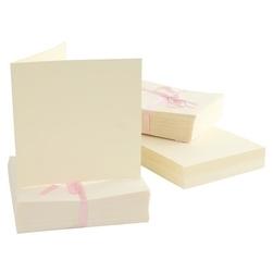 Kartka kwadrat - 10 sztuk kremowy - KRE