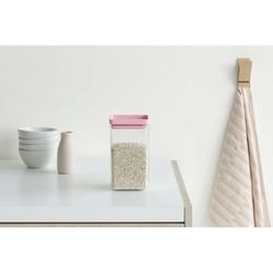 Brabantia - pojemnik kuchenny square 1,6 l - pokrywa różowa - różowy