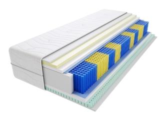 Materac kieszeniowy tuluza multipocket 125x175 cm średnio twardy lateks visco memory