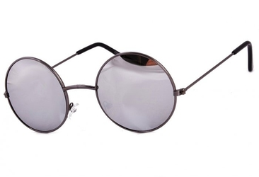 Lenonki srebrne lustrzanki hippie retro 447