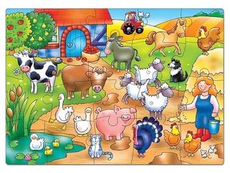 Kto mieszka na farmie puzzle