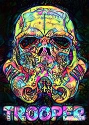 Psychoskulls, stormtrooper, star wars gwiezdne wojny - plakat wymiar do wyboru: 40x50 cm