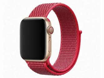 Pasek nylonowy Alogy do Apple Watch 12345 4244mm czerwony - Czerwony