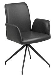 Krzesło naya czarna eko skóra - czarny