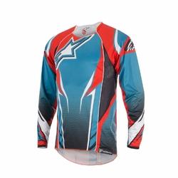 Koszulka alpinestars a-line 2  sapphire blue-spicy orange 1764915-764