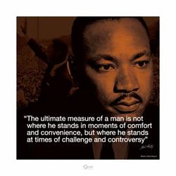 Martin Luther King Jr Życiowe cytaty - reprodukcja