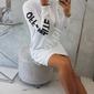 Biała sukienka w sportowym stylu,  dresowa z kapturem