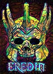 Psychoskulls, eredin, the witcher wiedźmin - plakat wymiar do wyboru: 30x40 cm