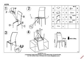Tapicerowane krzesło na metalowych nogach k276