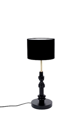 Zuiver :: lampa stołowa metalowa totem czarna