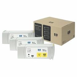 HP 83 zestaw 3 wkładów atramentowych: żółty UV 680 ml
