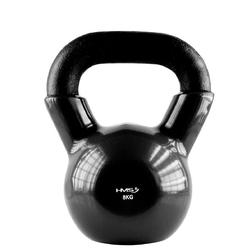 Hantla winylowa żeliwna kettlebell czarna 8 kg - hms - 8 kg  czarny