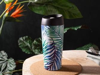 Kubek termiczny do herbaty i kawy  napojów gorących i zimnych  samochodowy botanical 400 ml