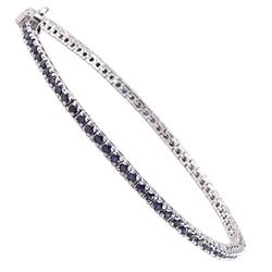 Niki srebrna bransoletka z szafirami, celebrytka 4,1ct