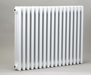 Grzejnik pokojowy retro - 3 kolumnowy, 700x600, białyral - biały