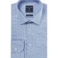 Niebieska koszula męska taliowana z klasycznym kołnierzykiem we wzór, slim fit 42