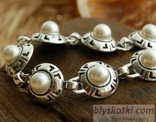 Doria - srebrna bransoletka bransoletka z perłą