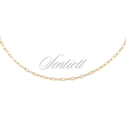 Srebrny łańcuszek dropstar ozdobny - żółte złoto