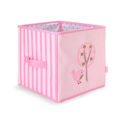 Składane pudło różowe w ptaszki Penny Scallan