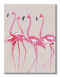 Elegant flamingos - obraz na płótnie