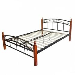 Łóżko metalowe podwójne 140 x 200 cm, stelaż homestyle4u