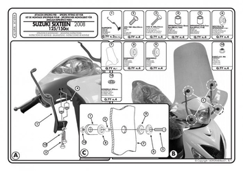 Kappa a169a mocowanie szyby suzuki sixteen 125-150 08-12