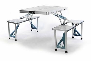 Stolik składany turystyczny piknikowy 4 osobowy aluminiowy