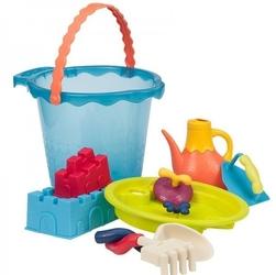 B.toys olbrzymie wiadro z akcesoriami do zabawy w piasku - niebieskie