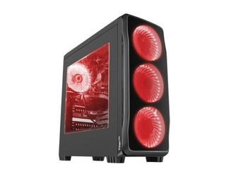 NATEC Obudowa Genesis Titan 750 USB 3.0 z oknem czerwone podświetlenie