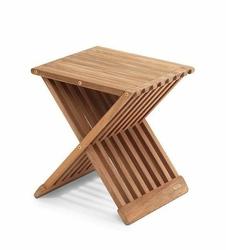 Taboret Fionia drewno tekowe