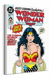 DC Wonder Woman Shes Back - Obraz na płótnie