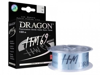 Żyłka hybrydowa dragon hm69 150m 0,221mm 6,05kg