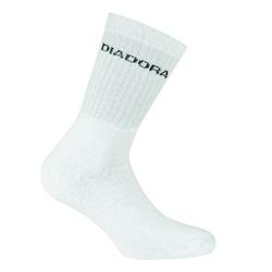 Skarpetki diadora unisex tennis socks 3 pairs per pack - biały