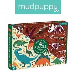 Mudpuppy puzzle dwustronne dinozaury 100 elementów 6+