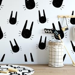 Tapeta dziecięca - rabbit art , rodzaj - tapeta flizelinowa laminowana