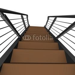Board z aluminiowym obramowaniem schody